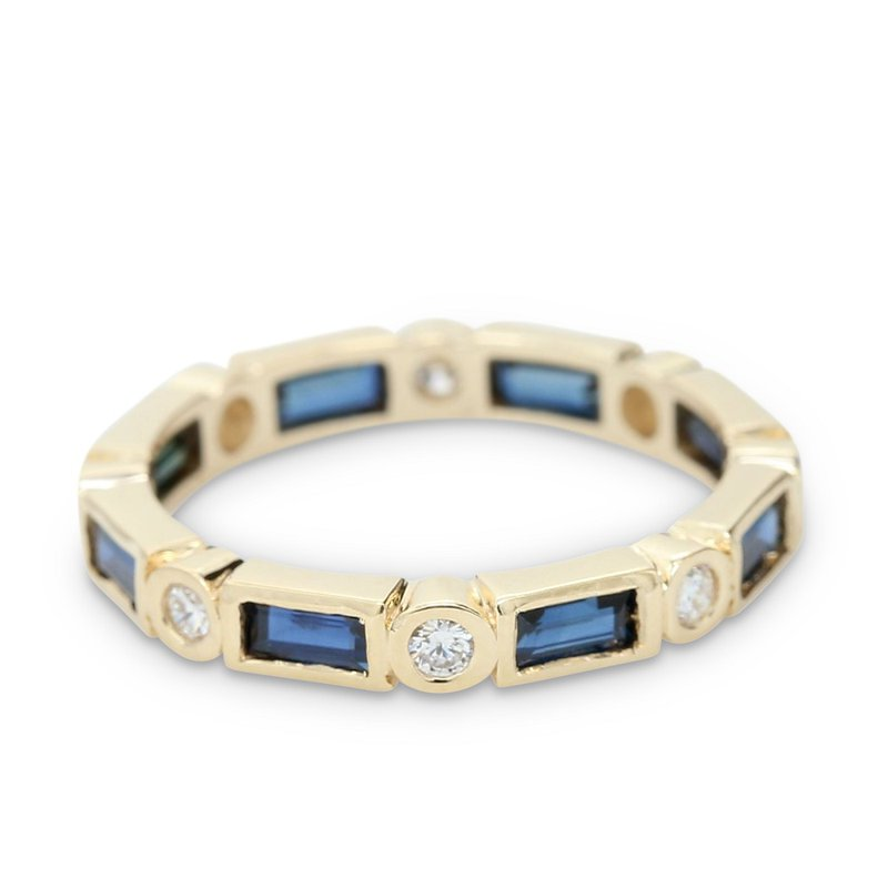 Daniels Designs Stackable Diamond & Baguette Sapphire Ring