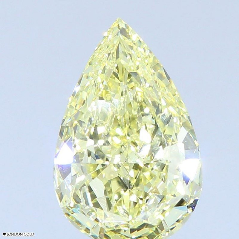 Colored Diamonds Pear .79 FY-SI2