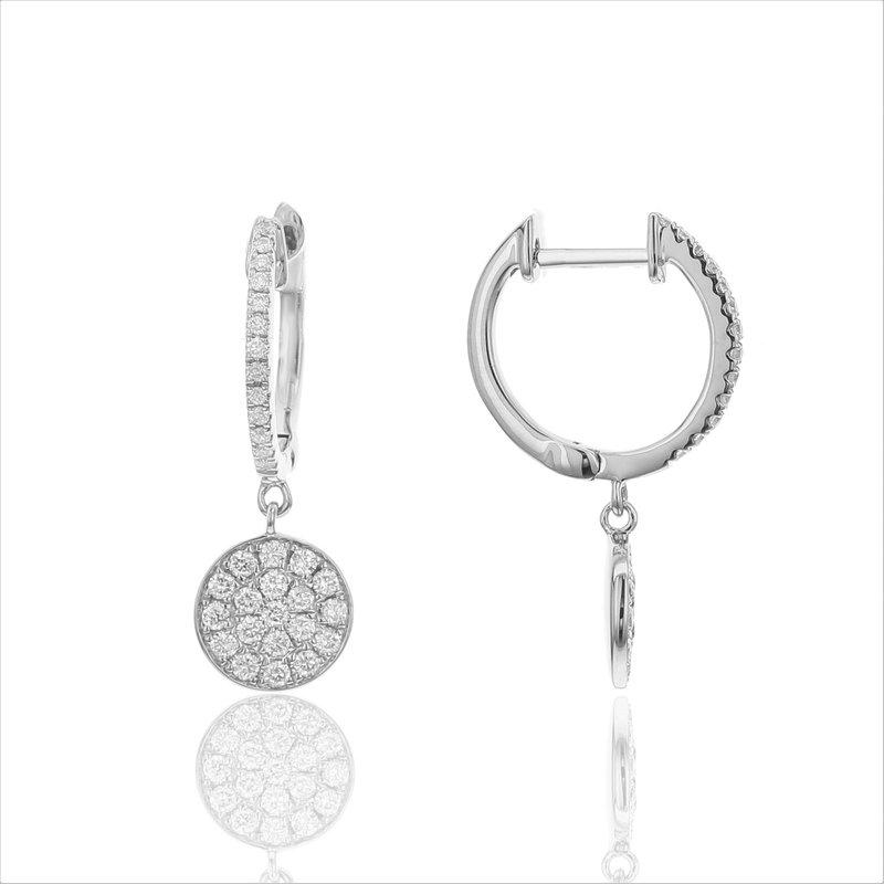 Odelia Jewelry Pave Circle Dangles 18KW