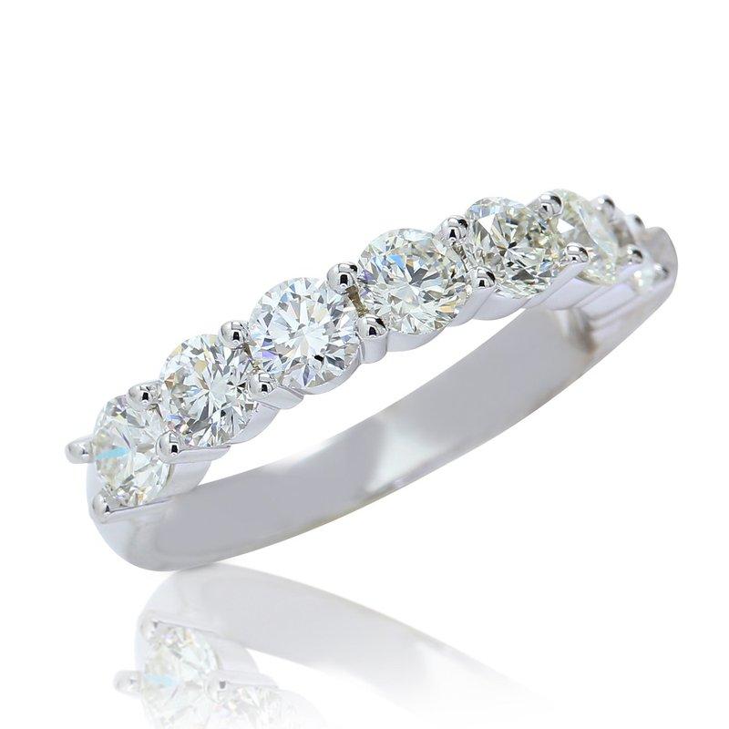 London Gold Designs Diamond Anniversary Band 14KW