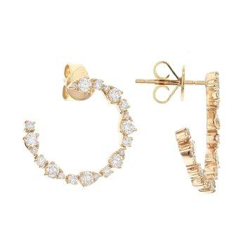 Swirl Diamond Earrings 18KY