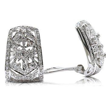 Diamond Clip-On Earrings 18KW