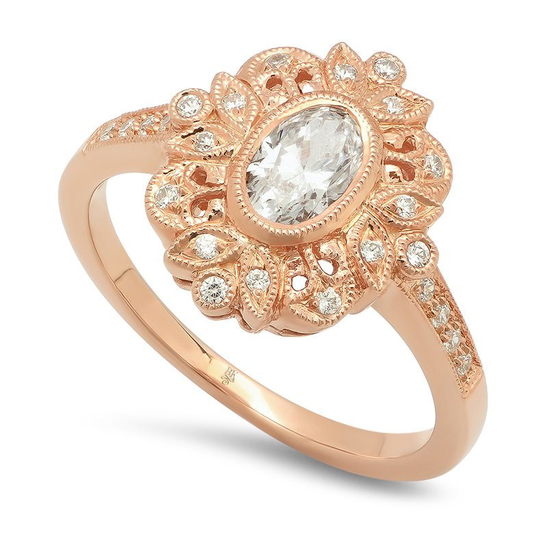 Beverley K Vintage Style Morganite Ring
