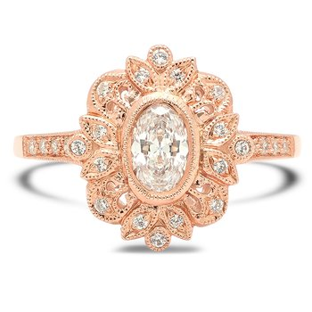 Vintage Style Morganite Ring