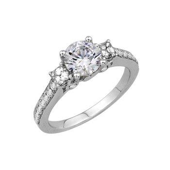 Three Stone Diamond Engagement Setting