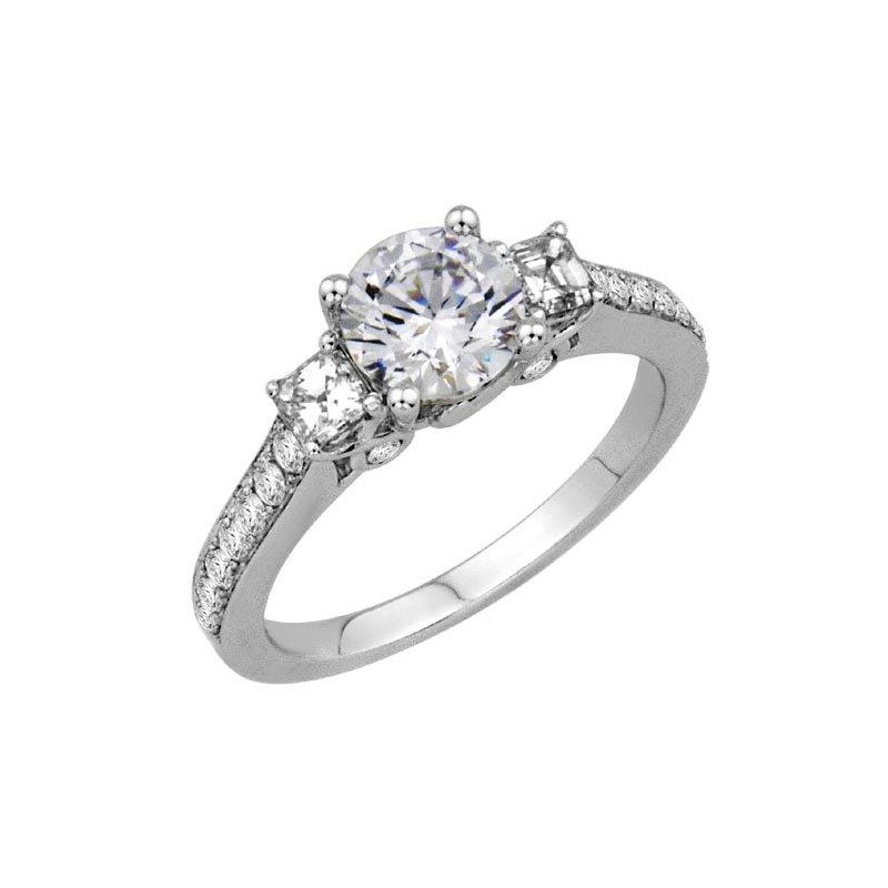 Isadora Three Stone Diamond Engagement Setting