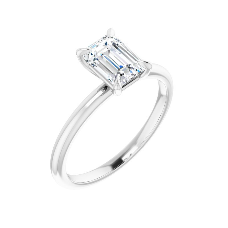 Gallery Designs Solitaire Engagement Ring - Setting Only