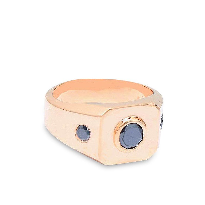 Lunaria Men's Rose Gold Ring
