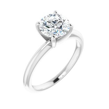 Solitaire Engagement Ring - Setting Only