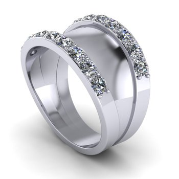 Diamond Trimmed Band