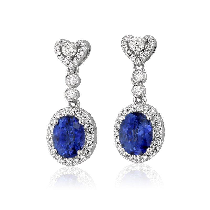 Yael Designs Tanzanite & Diamond Dangles 18K