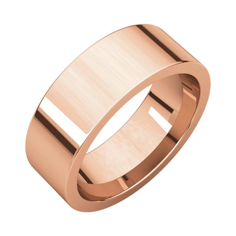 Gallery Designs 14K Rose 7mm Flat Comfort Fit Band