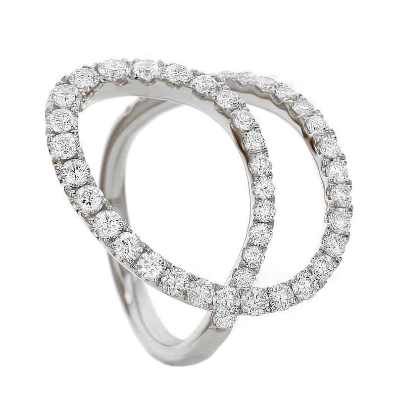 London Gold Designs Open Circle Ring 18KW