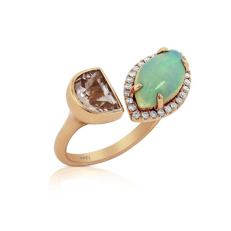 Yael Designs Toi & Moi Marquise Opal Ring 18KR