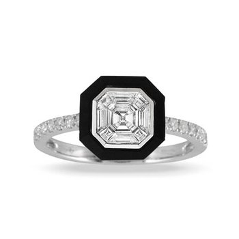 Art Deco Mondrian Ring 14KW