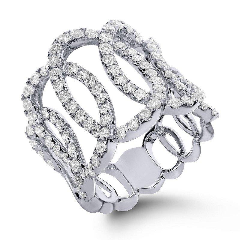 London Gold Designs Openwork Diamond Ring 18KW