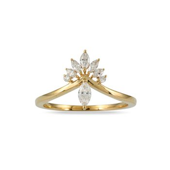 Marquise Diamond Ring 18KY