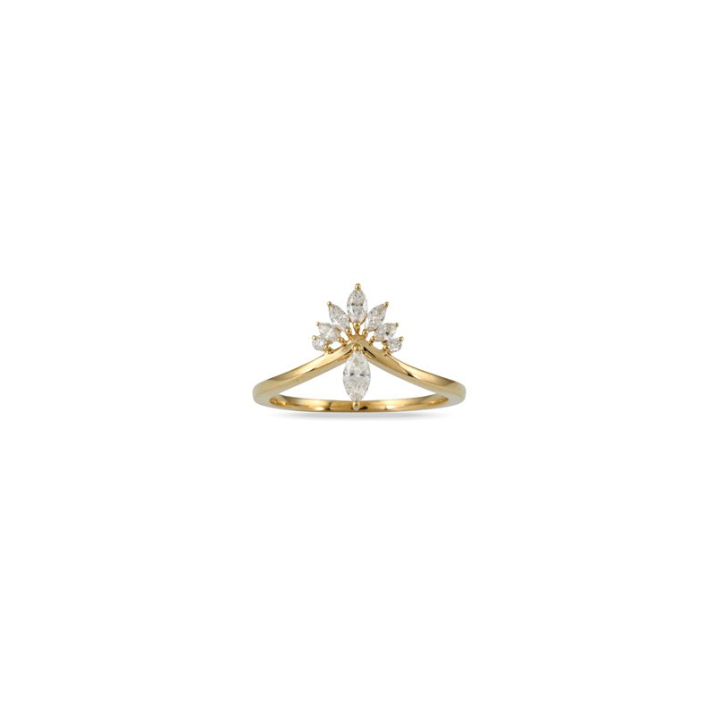 Doves Marquise Diamond Ring 18KY