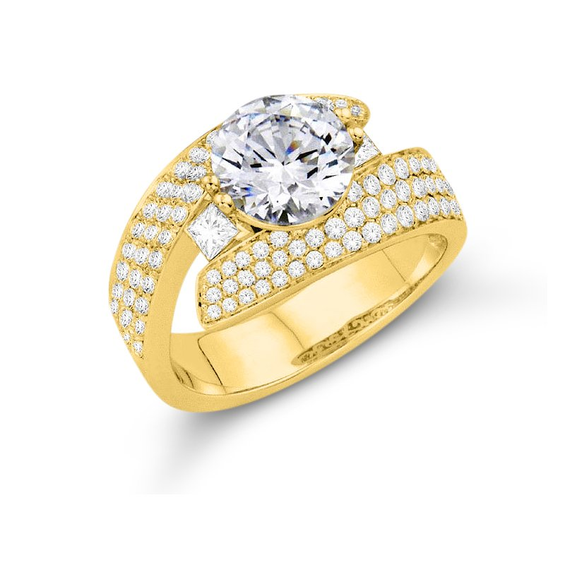 Isadora Pave Bypass Engagement Setting Only