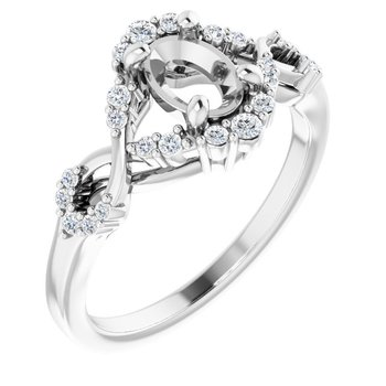 Infinity Engagement Ring - Setting Only