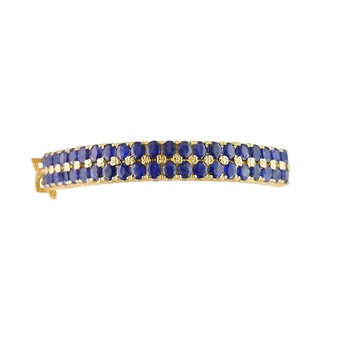 Estate Two Row Sapphire Bangle