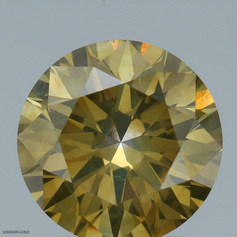 Colored Diamonds 2.06 Fancy Deep Brownish Greenish Yellow-I1