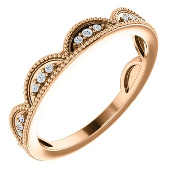 Stackable Diamond Ring 14KW