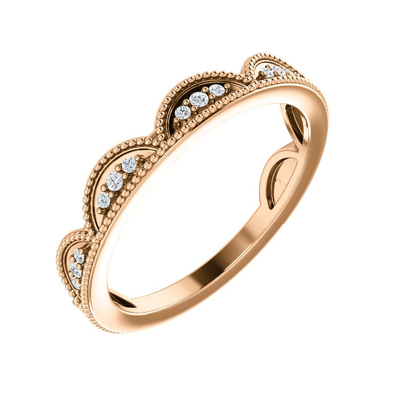 Gallery Designs Stackable Diamond Ring 14KW