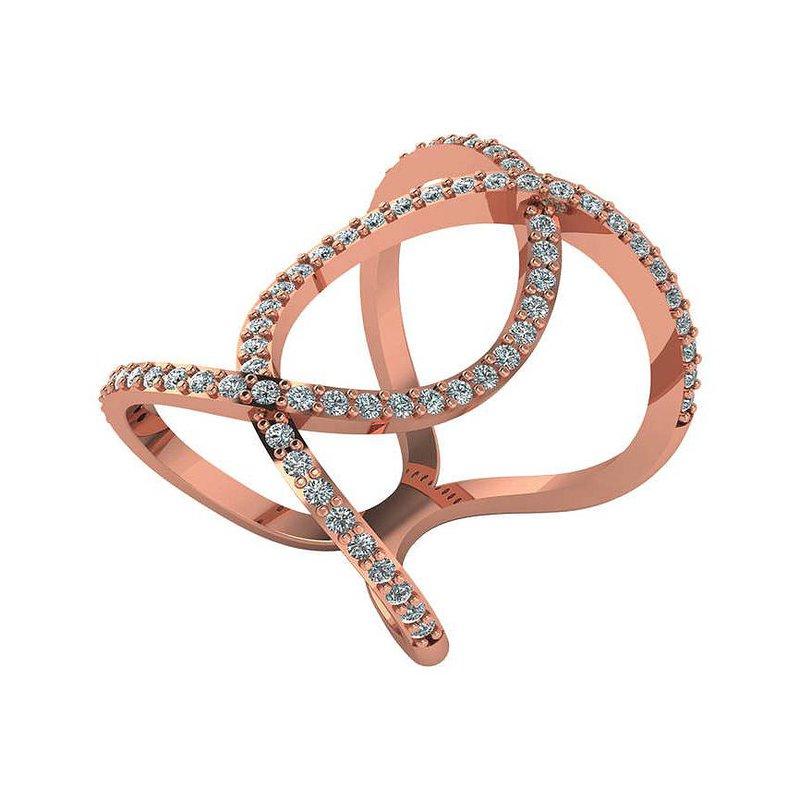 London Gold Designs 14KR Geometric Diamond Ring