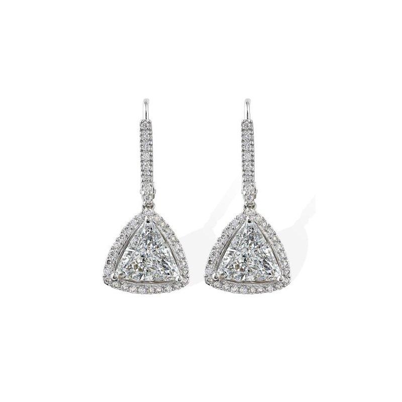 Yael Designs Trillion Halo Diamond Dangles 18KW
