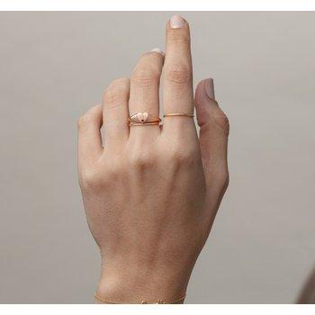 Ruby Heart Signet Ring 14KR