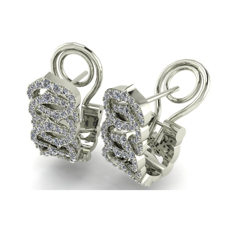 Isadora Diamond Hoop Earrings