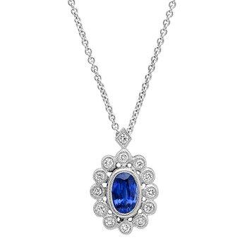 Vintage Sapphire & Diamond Pendant