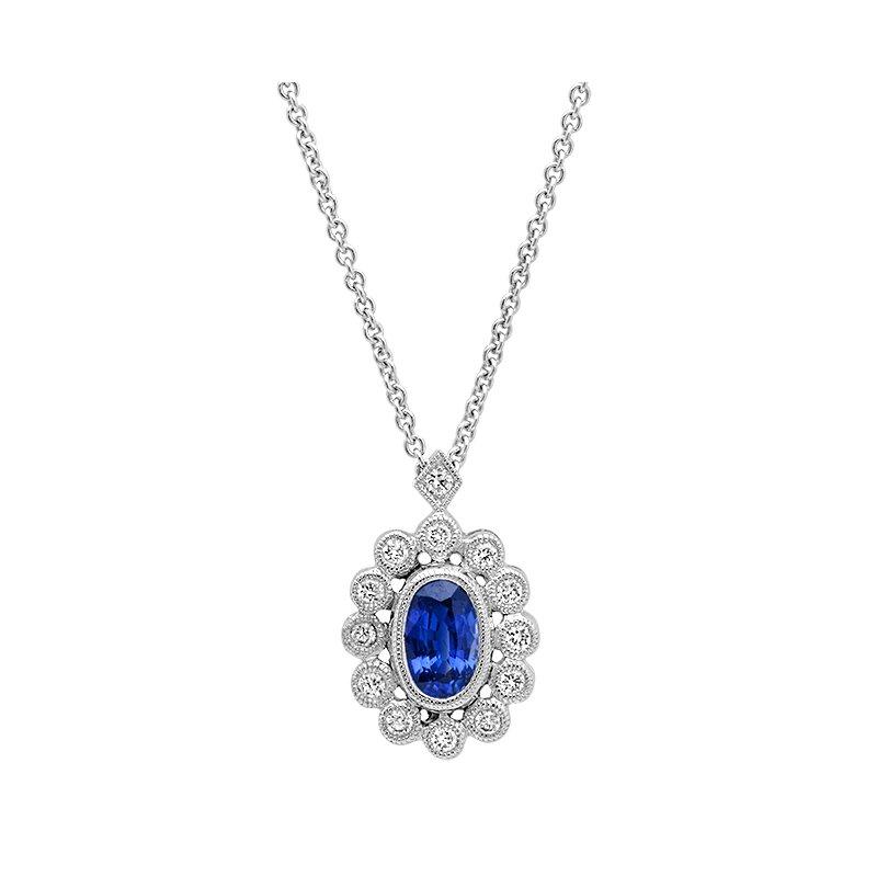Beverley K Vintage Sapphire & Diamond Pendant