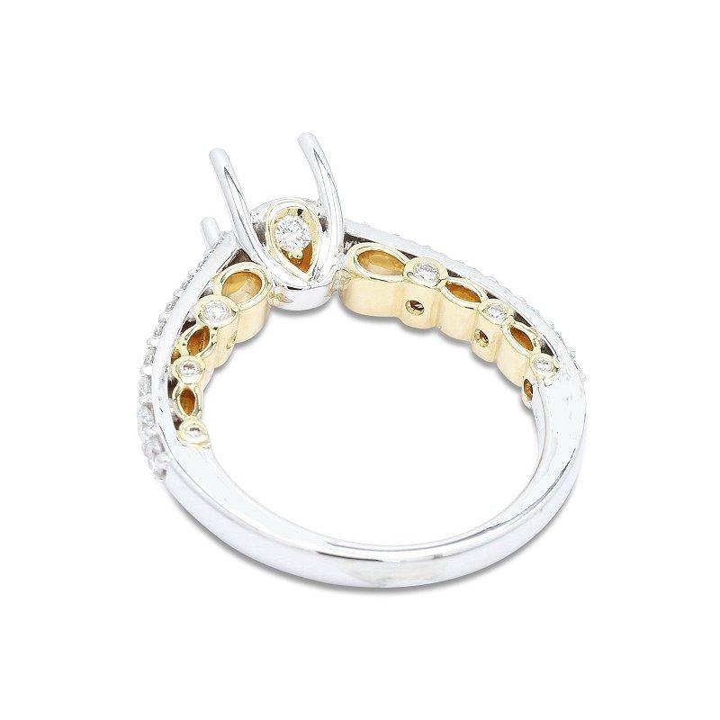 Isadora Vintage Cathedral Engagement Ring Setting