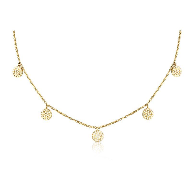 Sophia by Design Diamond Circle Necklace 14KY