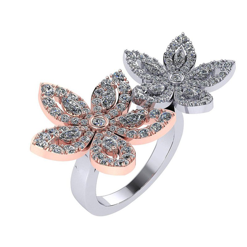 Isadora Flower Petal Ring 18WR