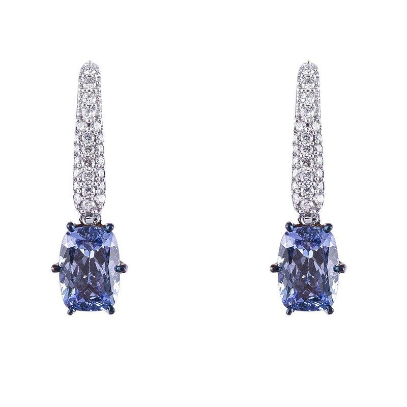 Sophia by Design Tanzanite & Diamond Earrings