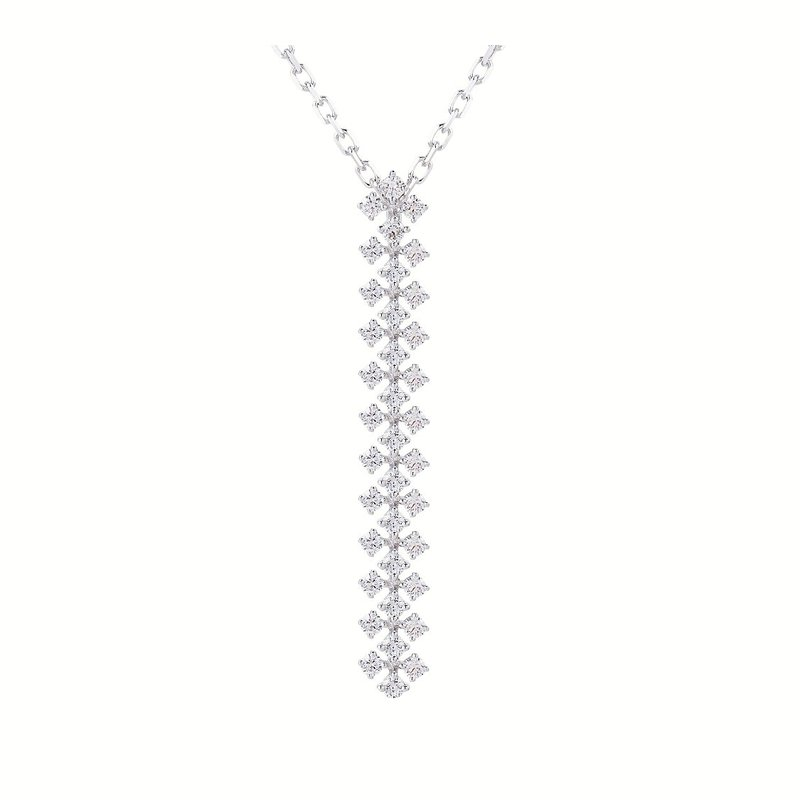 Sophia by Design Cascading Diamond Pendant 14KW