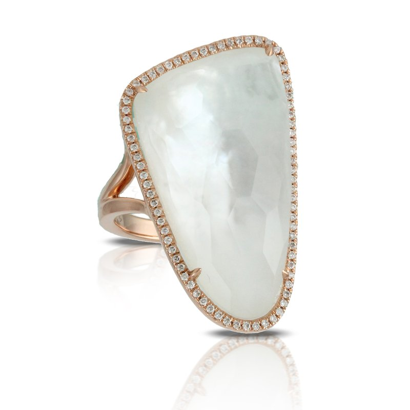 Doves White Orchid Halo Ring