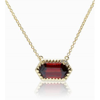 Garnet Necklace 14KY