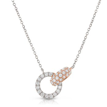 Interlocking Pave Necklace 18K