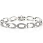 Beverley K Chain Link Diamond Bracelet 18KW
