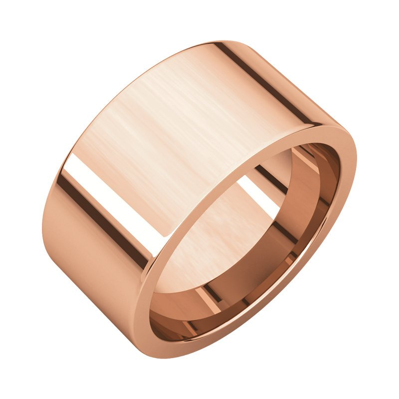 Gallery Designs 14K Rose 10mm Flat Comfort Fit Band