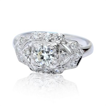 Vintage Engagement Ring 14KW