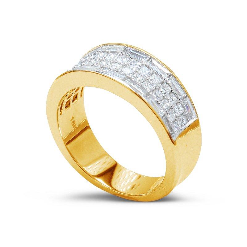 Isadora Wide Diamond Band 18KY