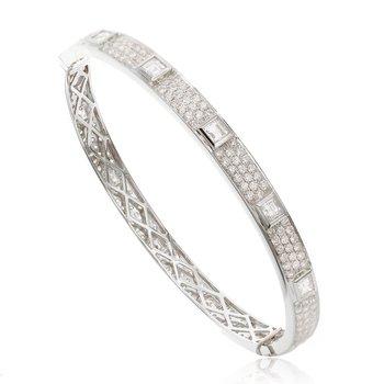 Eternity Diamond Bangle Bracelet 18KW