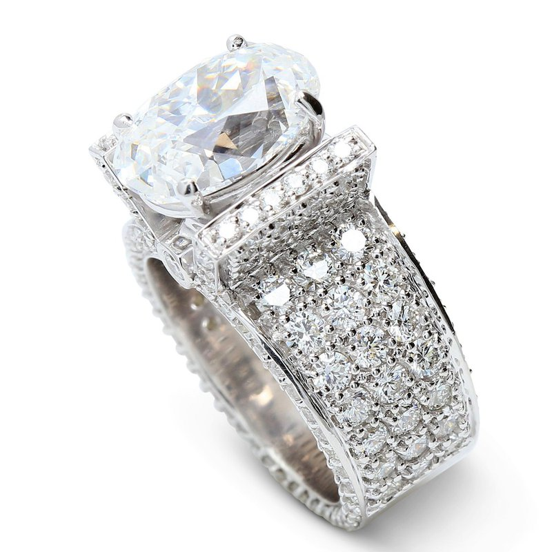 London Gold Designs Oval Diamond Engagement Ring