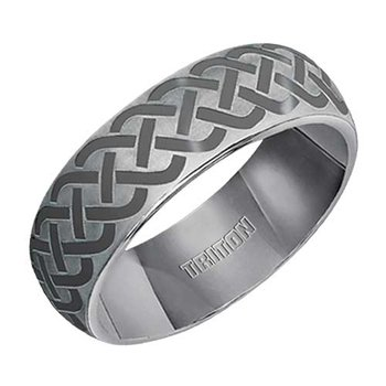 Triton Engraved Tungsten Wedding Band
