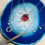 Meira T Bar Diamond Necklace